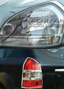2005-2009 Tucson Chrome Headlight/Taillight Trim 4pc Package