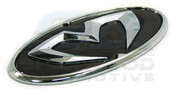 2012+ Rio / Pride Hatchback M&S Chrome GRILL TRUNK STEERING Embl