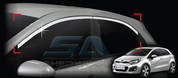 2012+ Rio 5 door Chrome Upper Window Trim Set 4pc