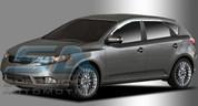 Forte 5 door Hatchback Chrome Window Visors