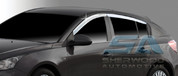 2011+ Chevy Cruze 5 door Hatchback Chrome Window Visors