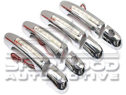 Chevy aveo kalos led chrome door handle covers 8pc 2009 chevy aveo interior door handle