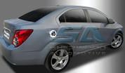 2012 Chevy Aveo Color Symbol Chrome Fuel Door Cover