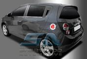 Chevy Aveo 2012 5 door Symbol Chrome Fuel Door Cover