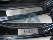 ix20 Stainless Steel Door Sills Entry Guards 4pc