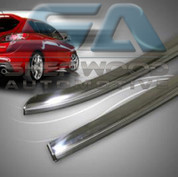 Elantra (Prior to XD) STAINLESS STEEL Chrome Window Visors 4pc