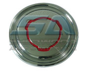 Chevy Epica Chrome RED Fuel Door Cover