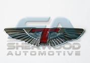 2012 + Genesis Sedan Tomato A&P HOOD WING Badge Emblem Logo