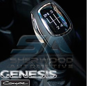 2013 + Genesis Coupe Chrome/Leather Manual Shift Knob