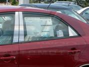 Forte Sedan Stainless Steel/Chrome Door Pillar Post Set 6pc