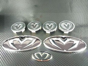 2000-2002 Tiburon M&S Chrome GRILL TRUNK STEERING CAPS 7 pc.