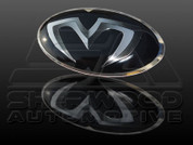 iX20 M&S BLACK/CARBON Grill Trunk Steering Emblem