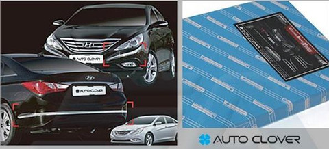2011+ Sonata YF i45 Chrome Bumper Molding Set Front/Rear