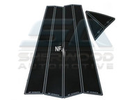 NF Sonata Premium Black Gloss Door Pillar Post Set 6pc