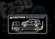 Sorento Safety Tow Window Decal Sticker