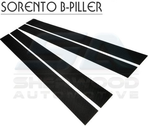 2007+ Kia Sorento Carbon Fiber Optic Door B- Pillar Set 4pc 2003 2004 2005 2006 2008 2009