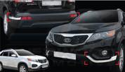 2010+ Sorento R XM Chrome Front Bumper Molding Set 4pc