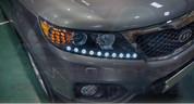 2010+ Sorento R XM UFO 2-way LED Headlight Module Set DIY 2pc