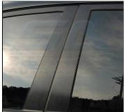 Chevy / Holden Cruze Carbon Fiber Door Pillars Decal Set 6pc