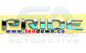 "2012+ Rio 4 Door ""PRIDE"" Chrome Letter Emblem"