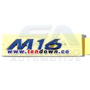 """2011+ Elantra MD """"M16"""" Chrome Emblem"""