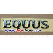 Equus Chrome Letter Emblem