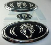 07-09 Elantra HD Tigris Luxury Version Emblem Badge Set 3pc