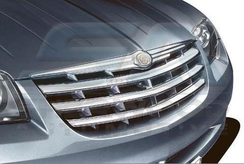 Chrysler Crossfire Chrome Front Grill Set Overlay Mold