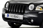 Jeep Compass Stainless Steel Euro License Plate Holder