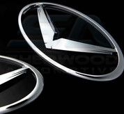 "Subaru BRZ ""WING V"" Emblem Badge Set Grill Trunk Wheel Caps Stee"