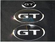 "2012+ Subaru XV ""GT"" Carbon Emblem Set Grill Trunk Steering 3pc"