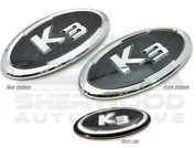 2013+ Forte K3 Emblem Badge Set Grill+Trunk+Steering 3pc