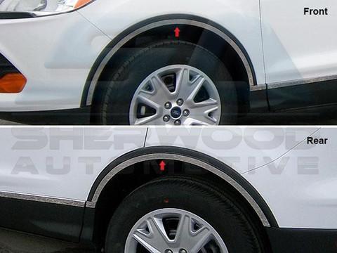2013 Ford Escape Chrome Wheel Well Trim W Gasket Korean
