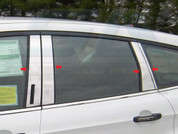 2013 Ford Escape 8 Pc CHROME Pillar Post Trim w/ Keyless