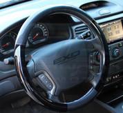 07-09 Santa Fe Premium Carbon/Gloss Black Steering Wheel Cover