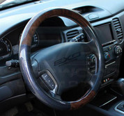 Chevy Volt Wood Grain Carbon Fiber Premium Steering Wheel Cover