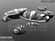 Quoris / K9 Brenthon Emblem Badge Set Grill Trunk Wheel Caps Ste