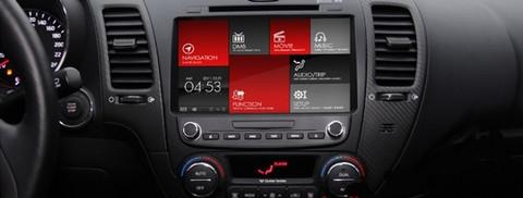 2014 Forte K3 Deluxe Dash Facia Double Din W Controls