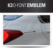 """2014+ Forte """"The Valuable K3"""" Accent Emblem"""