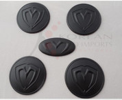 07-09 Amani/Opirus NEW 3D M&S MATTE BLACK Wheel Caps + Steering