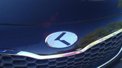00-02 Tiburon PLATINUM VIP K Carbon/Stainless 7pc Emblem