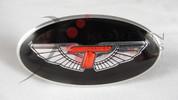 2007+ Rio Pride Tomato T-WING Oval Steering Wheel Embl