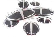 07-09 Amanti 3D T-LOGO 7pc Emblem Badge Set Grill Trunk Caps