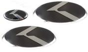 06-10 Accent CARBON 3pc Lexus Style Badges Emblem Grill Trunk St