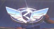 2014 + Forte Cerato Sedan K3 2pc K-WING Emblem Badge Logo Grill Trunk