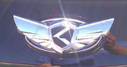 2011 + Forte Hatchback 2pc K-WING Emblem Badge Logo Grill Trunk