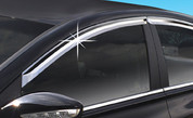 2011+ Sonata i45 Chrome Window Visors