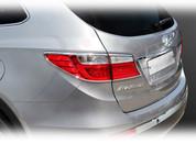 2013-2014 Santa Fe 7 PASSENGER Chrome Taillight Trim Set 4pc