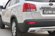 2010-2013 Sorento R Sport Rear Diffusor w/ Faux Exhaust Tips
