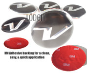 "*SALE* Veloster Loden  ""V"" 5pc Package Wheel Caps + Steering Emblem"